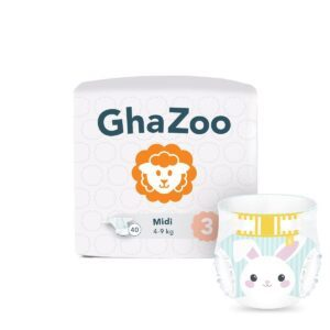 GhaZoo Pack d'essai Couches Taille 3 Midi